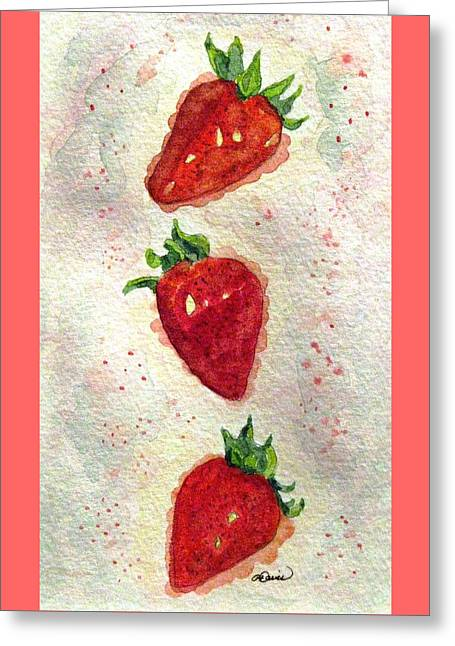 Greeting Card featuring the painting So Juicy by Angela Davies