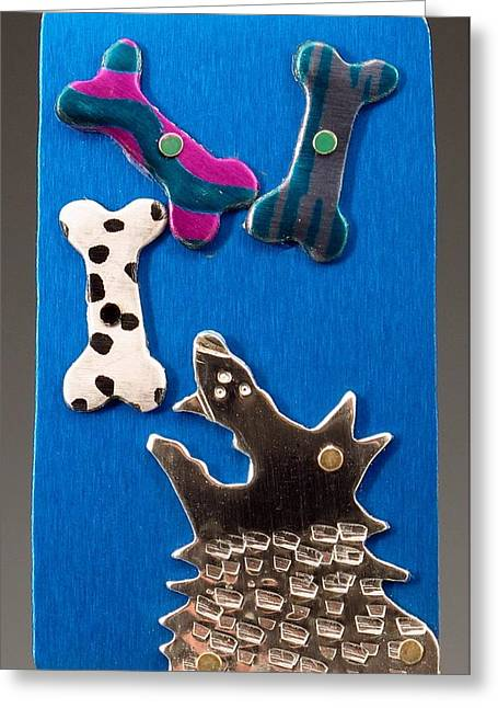 So Many Bones...so Little Time Greeting Card by Barbara Lager