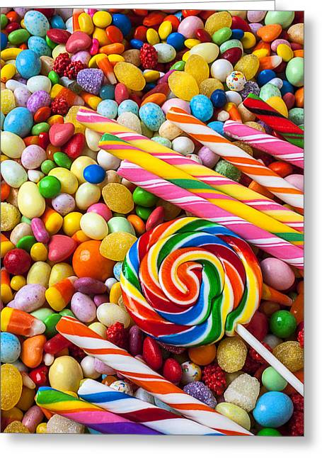 So Much Candy Greeting Card by Garry Gay