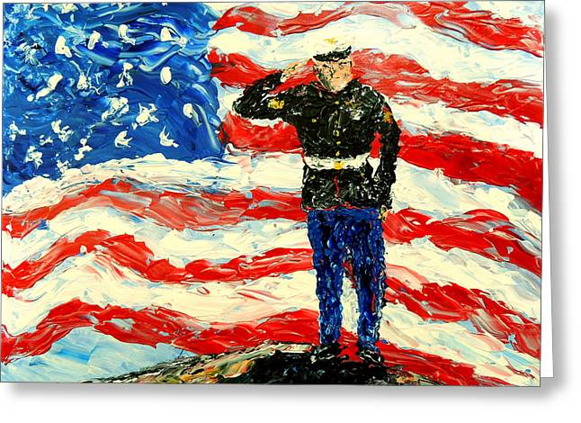 So Proudly They Hailed  Greeting Card by Mark Moore