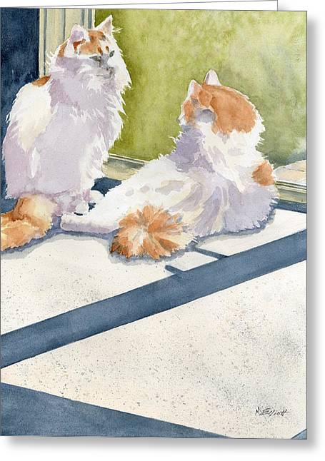 Soaking Up Some Rays Greeting Card by Marsha Elliott