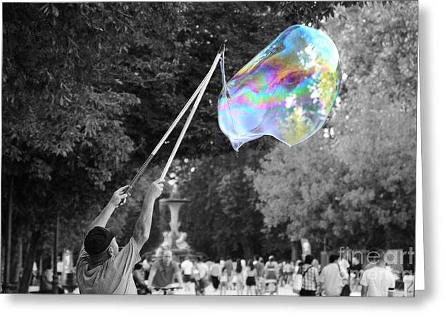 Soap Bubbles  Mix Greeting Card