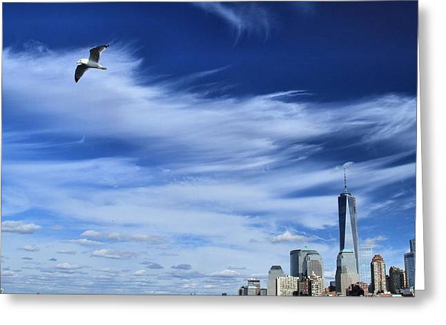 Soar Over New York City Greeting Card