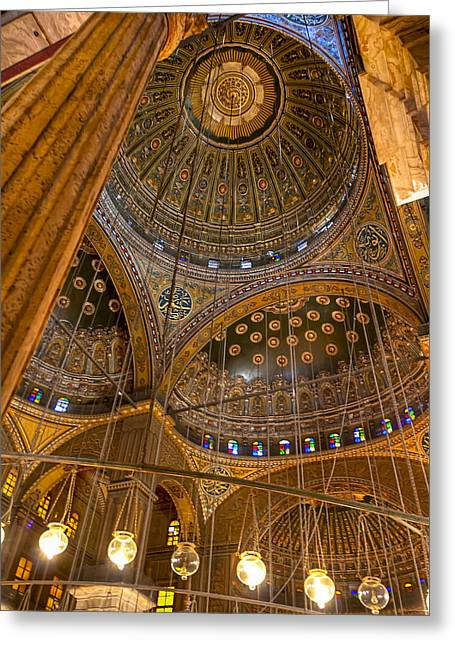 Soaring Architecture Of The Mosque Of Muhammad Ali Pasha Greeting Card by Mark E Tisdale