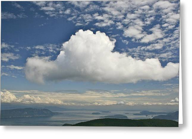 Soaring Cloud Greeting Card by Jim Gillen