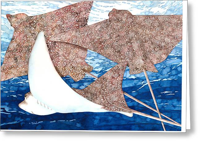 Soaring Eagle Rays Greeting Card