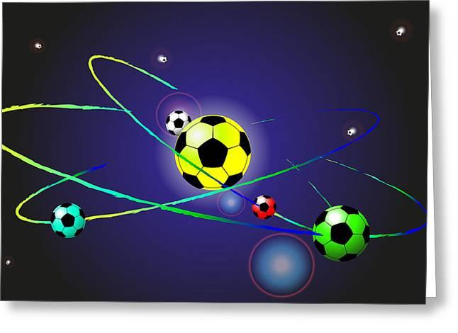 Soccer Ball Greeting Card by Volodymyr Horbovyy