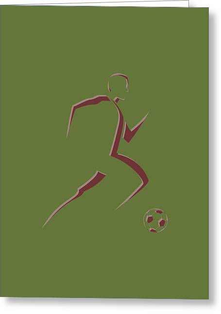 Soccer Player10 Greeting Card by Joe Hamilton