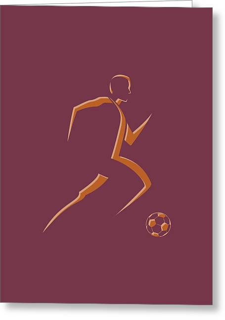 Soccer Player4 Greeting Card by Joe Hamilton