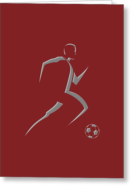 Soccer Player9 Greeting Card by Joe Hamilton