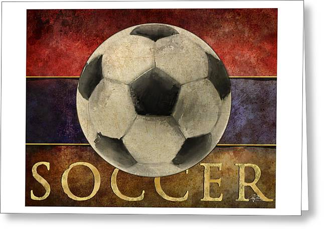 Soccer Poster Greeting Card by Craig Tinder