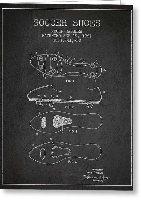 Soccer Shoe Patent From 1967 Greeting Card by Aged Pixel