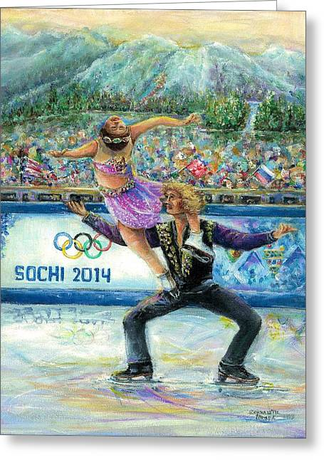 Sochi 2014 - Ice Dancing Greeting Card