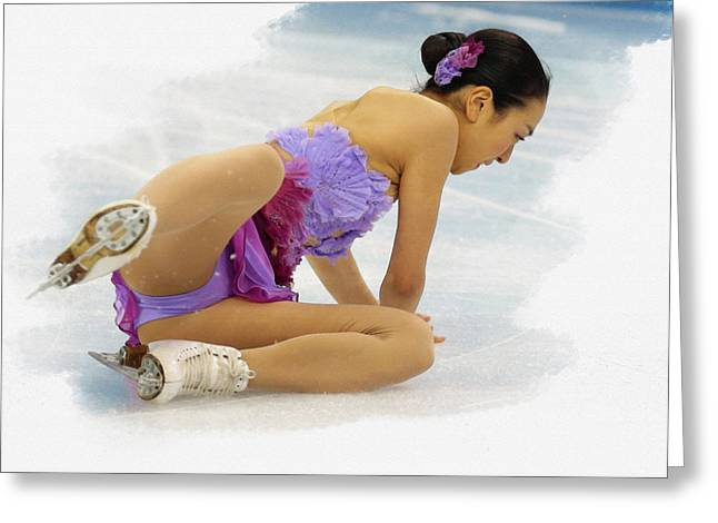 Mao Asada Of Japan Greeting Card by Don Kuing