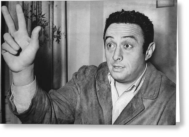 Social Critic Lenny Bruce Greeting Card by Underwood Archives