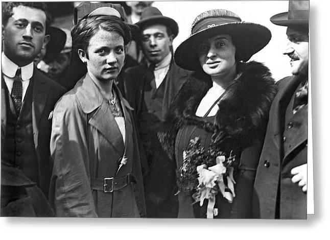 Society Women In Steerage Greeting Card by Underwood & Underwood