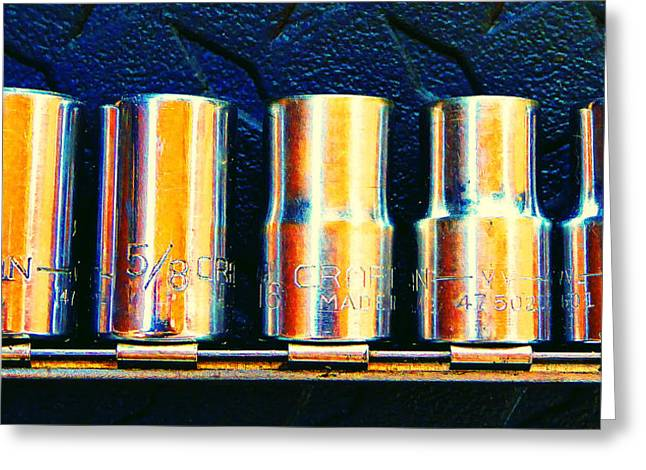 Socket Set B Greeting Card by Laurie Tsemak