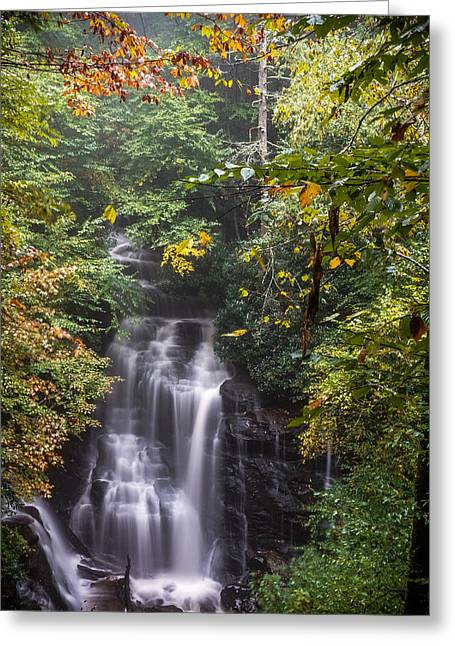 Greeting Card featuring the photograph Soco Falls by Francis Trudeau