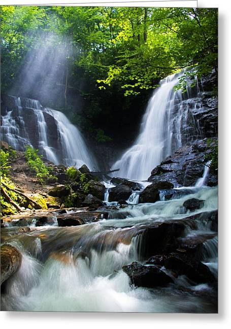 Greeting Card featuring the photograph Soco Falls by Serge Skiba
