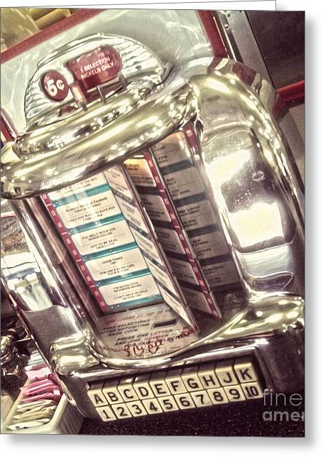Soda Fountain Juke Box Greeting Card