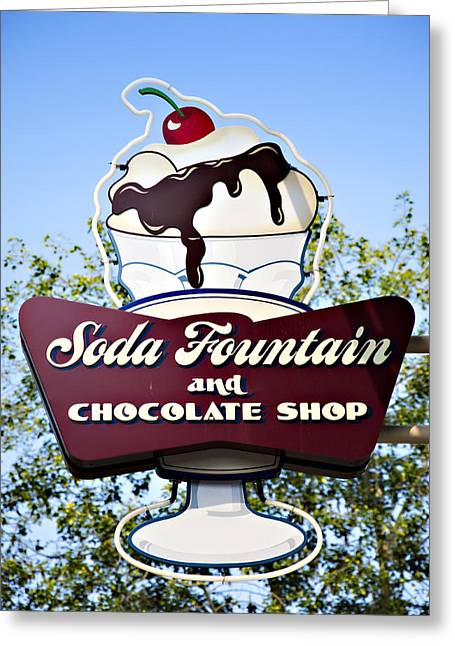 Soda Fountain Greeting Card by Ricky Barnard