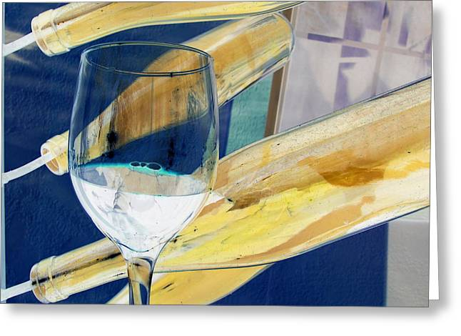 Greeting Card featuring the photograph Soda Or Wine Is Fine by Marie Neder