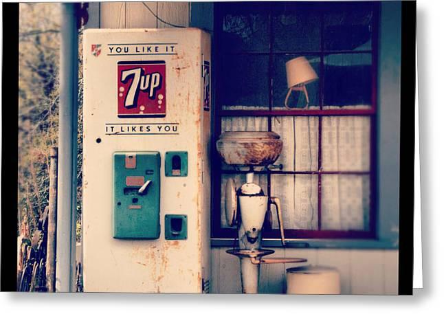 Soda Vending Machine Greeting Card