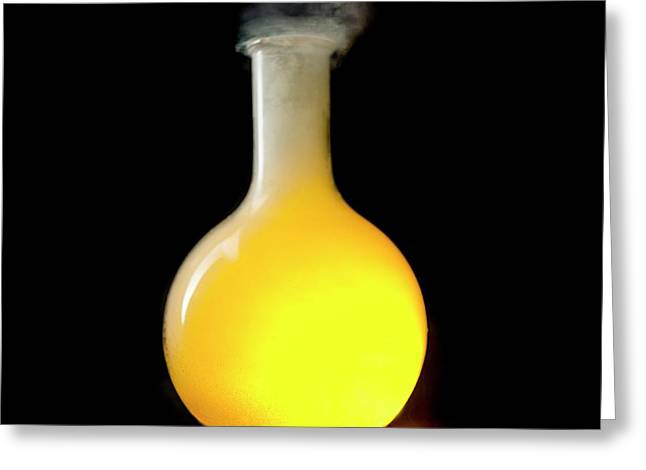 Sodium Burning In Chlorine Greeting Card by Science Photo Library