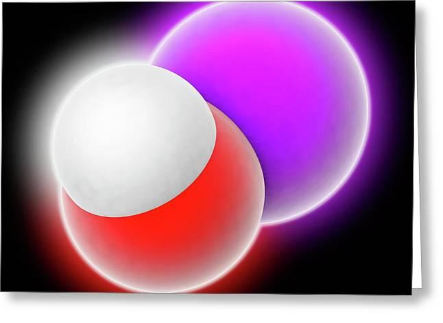 Sodium Hydroxide Molecule Greeting Card by Laguna Design