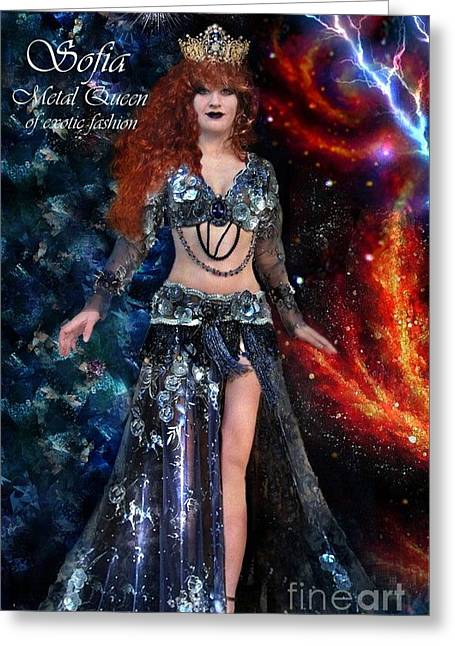 Sofia Metal Queen. Gothic Fashion Line Greeting Card by Sofia Metal Queen