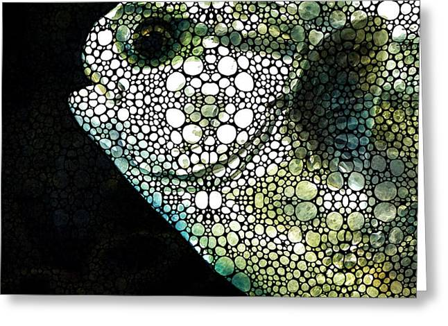 Sofishticated - Fish Art By Sharon Cummings Greeting Card