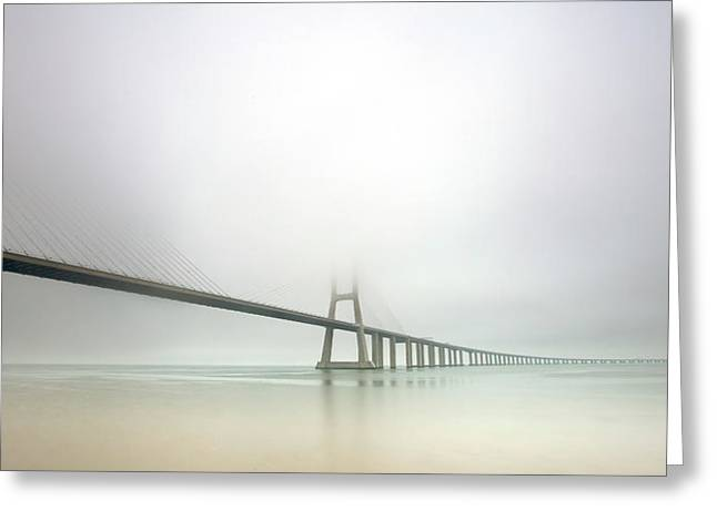 Soft Bridge Greeting Card by Jorge Feteira
