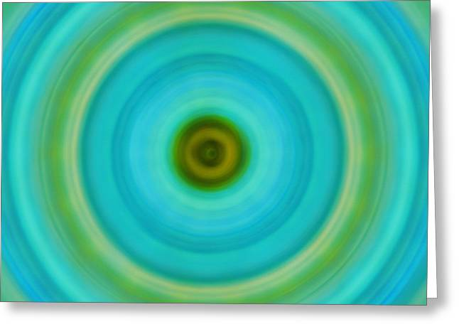Soft Healing - Energy Art By Sharon Cummings Greeting Card by Sharon Cummings