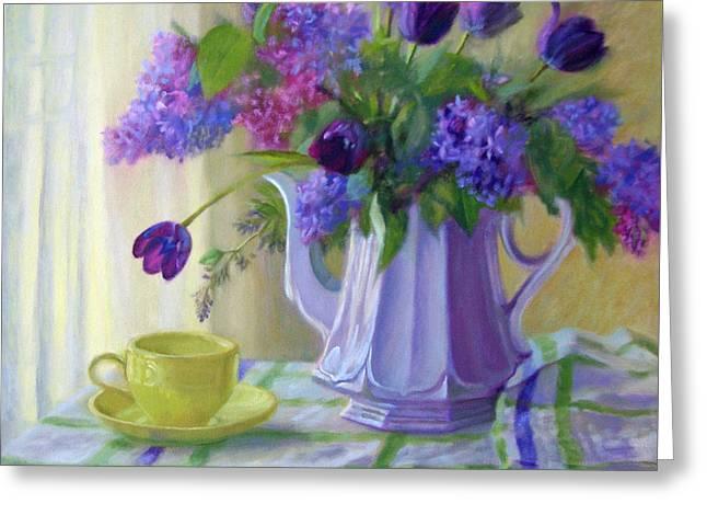 Soft Light Greeting Card by Bonnie Mason