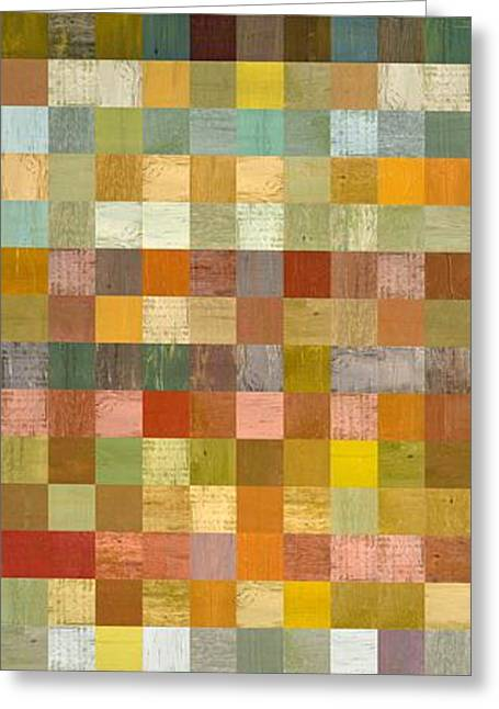 Soft Palette Rustic Wood Series Collage L Greeting Card by Michelle Calkins