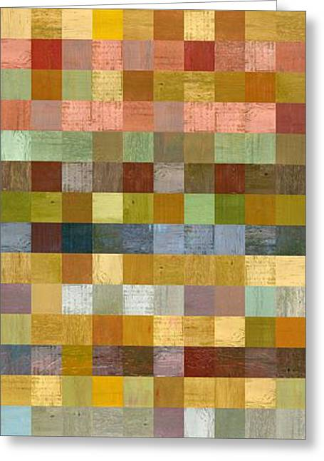 Soft Palette Rustic Wood Series Collage Ll Greeting Card by Michelle Calkins