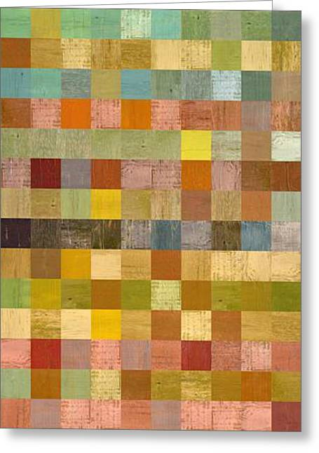 Soft Palette Rustic Wood Series Collage Lll Greeting Card