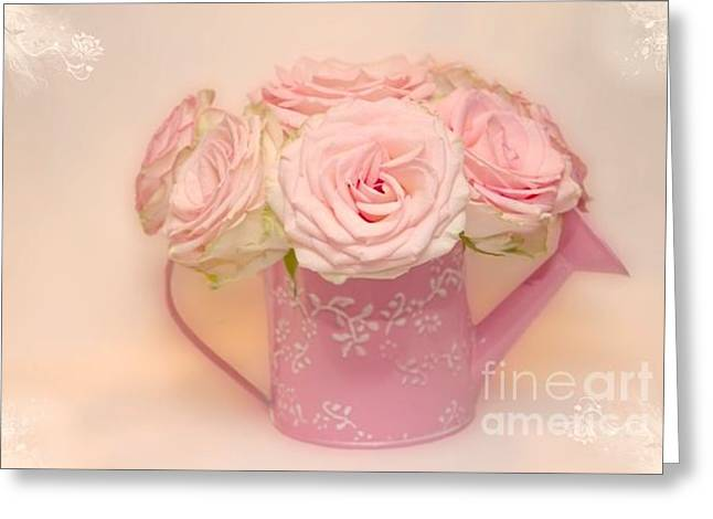 Greeting Card featuring the photograph Soft Pink by Taschja Hattingh