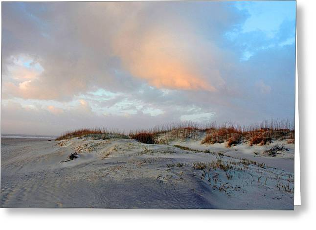 Greeting Card featuring the photograph Soft Sun Rise by Allen Carroll