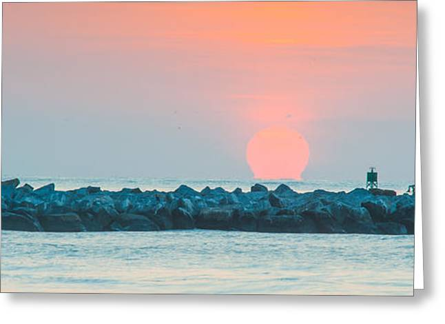 Soft Sunrise At Jetty Park Greeting Card by Cliff C Morris Jr
