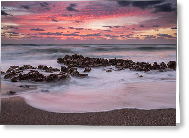 Soft Sunrise Greeting Card by Mike Lang