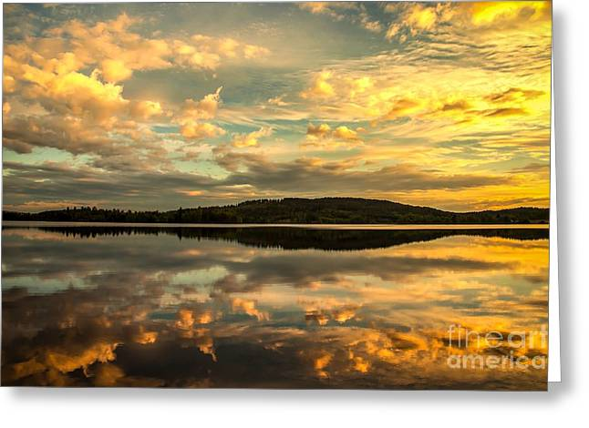 Greeting Card featuring the photograph Soft Sunset by Rose-Maries Pictures