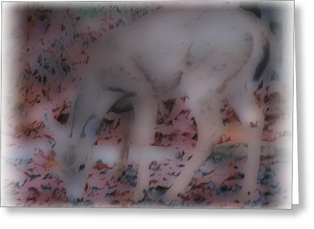 Soft Touch Art 1 Greeting Card by Debra     Vatalaro
