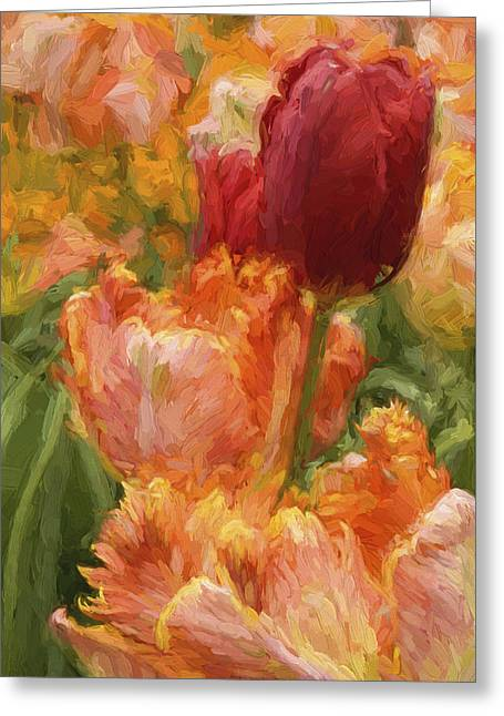 Soft Tulips Greeting Card by Paul W Faust -  Impressions of Light