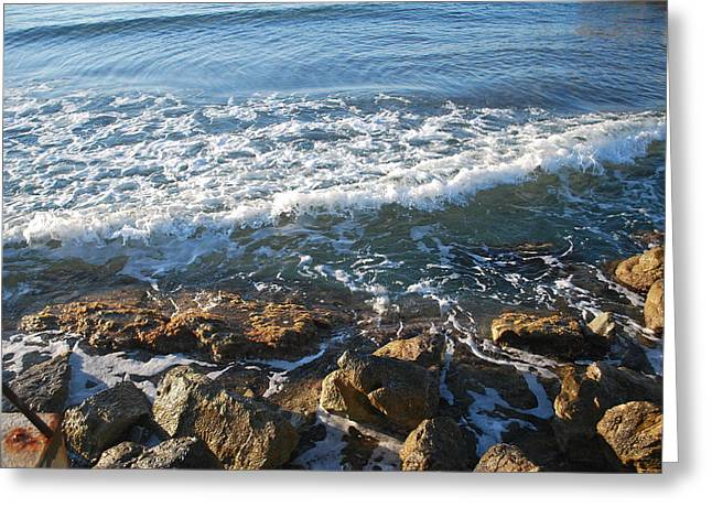 Soft Waves Greeting Card by George Katechis