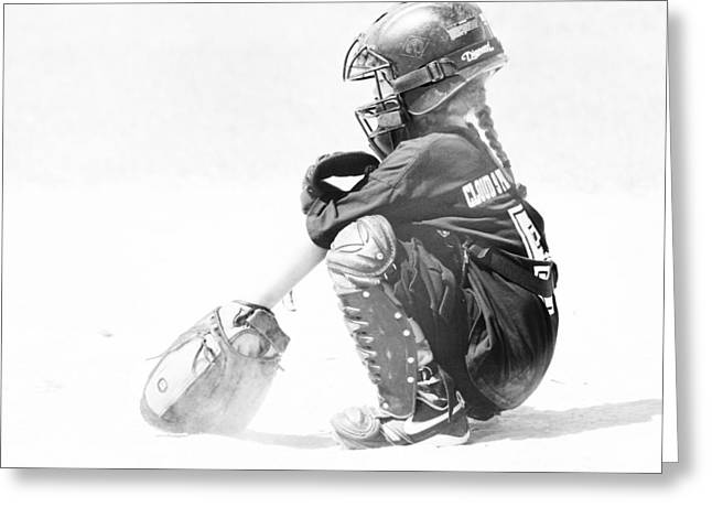 Softball Catcher Greeting Card