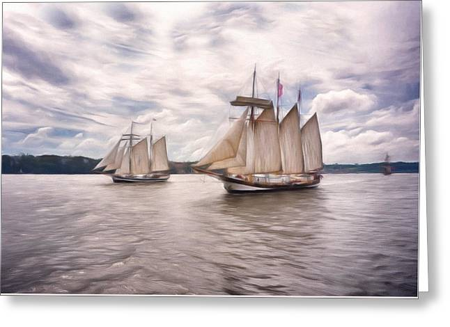 Softly Sailing Greeting Card by Georgiana Romanovna