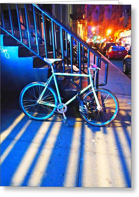 Soho Bicycle  Greeting Card by Joan Reese