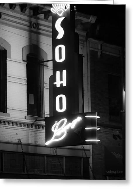 Soho Sign In Austin Greeting Card by Jeff Kauffman