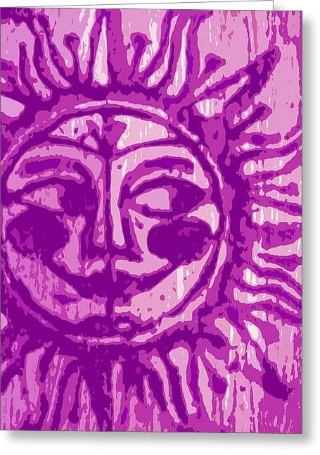 Sol - Fuschia Greeting Card